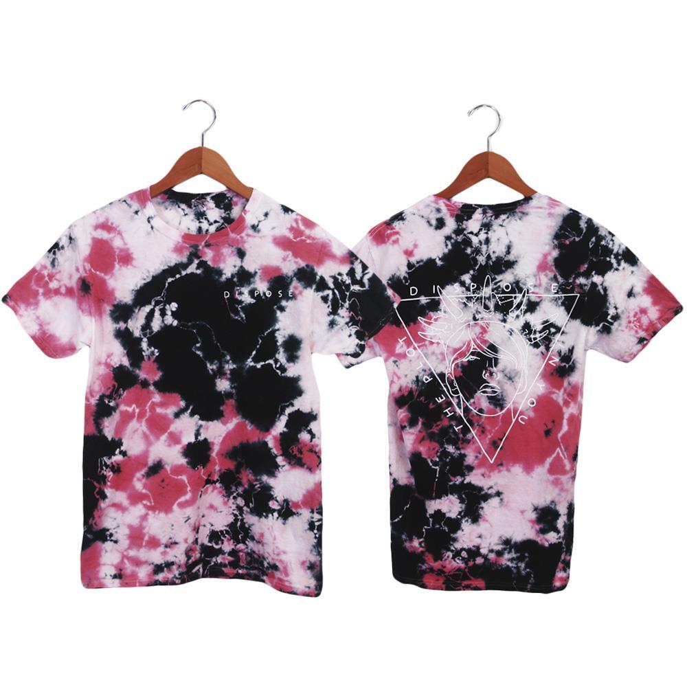 Dispose Black/White/Pink Custom Dyed