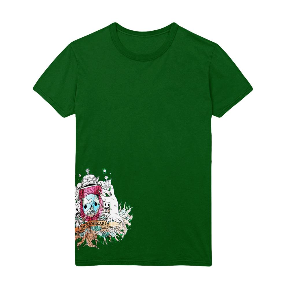 *Limited Stock* Take To The Skies Side Print Green