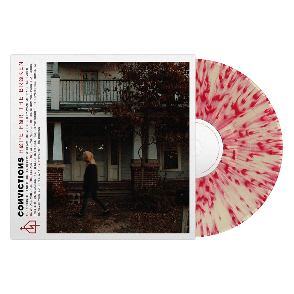 Hope For The Broken Clear w/ Red Splatter