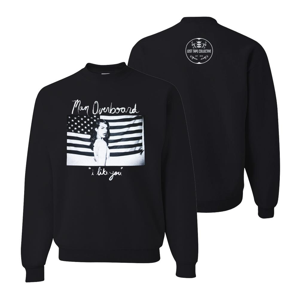 *Last One* I Like You Black Crewneck