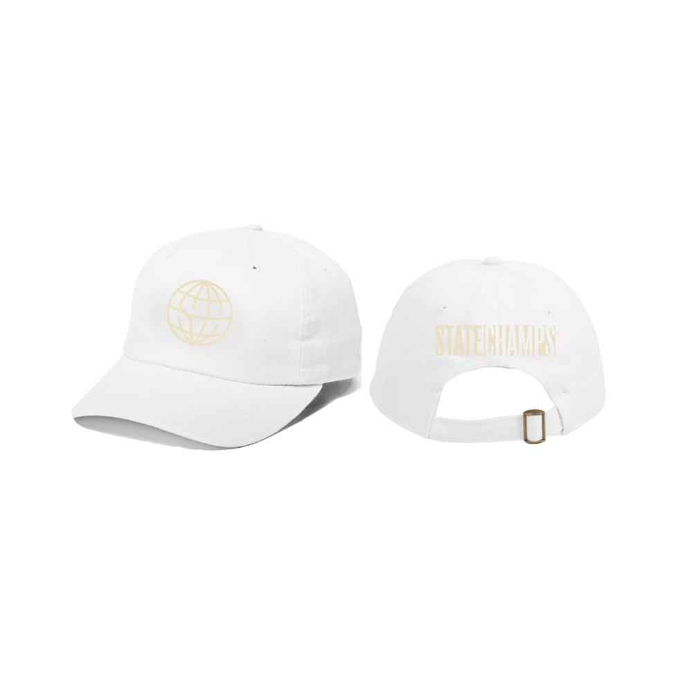 Around The World And Back White Dad Hat