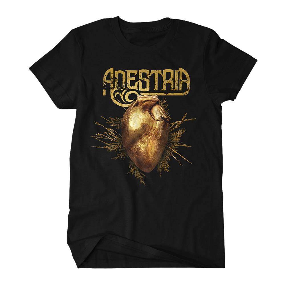 Gilded Hearts Art Black T-Shirt