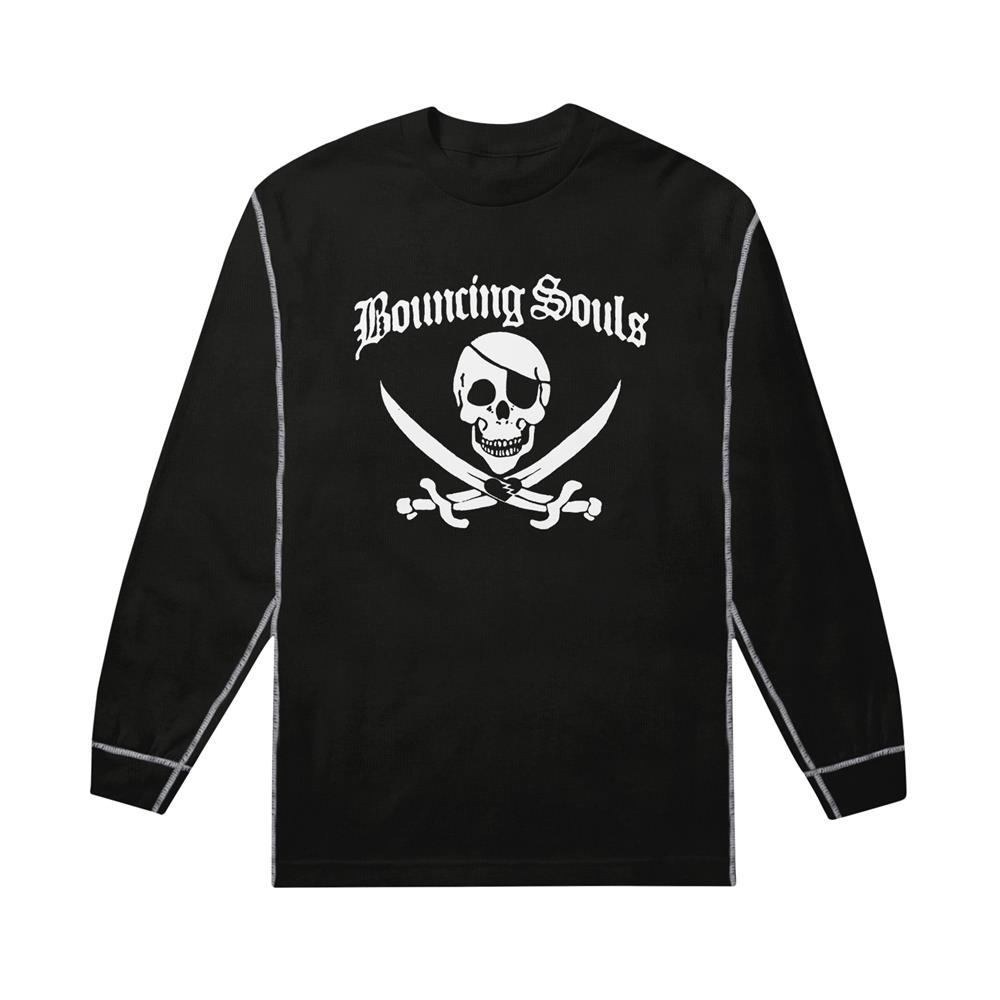 Jolly Roger Black/Grey Thermal Long Sleeve