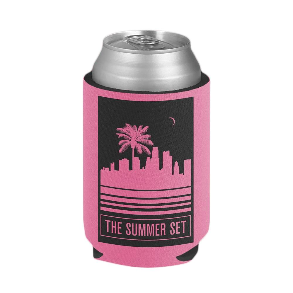 City Scape Pink Koozie