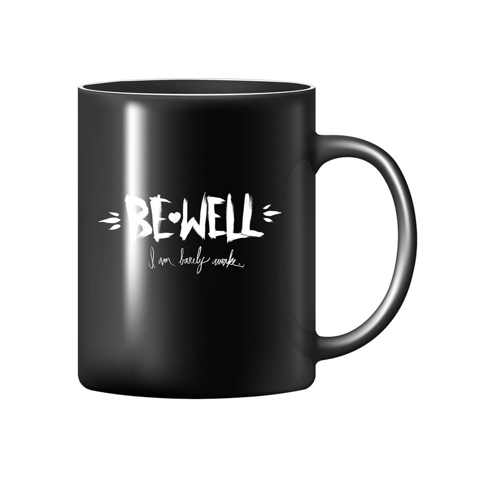 I Am Barely Awake Black Coffee Mug