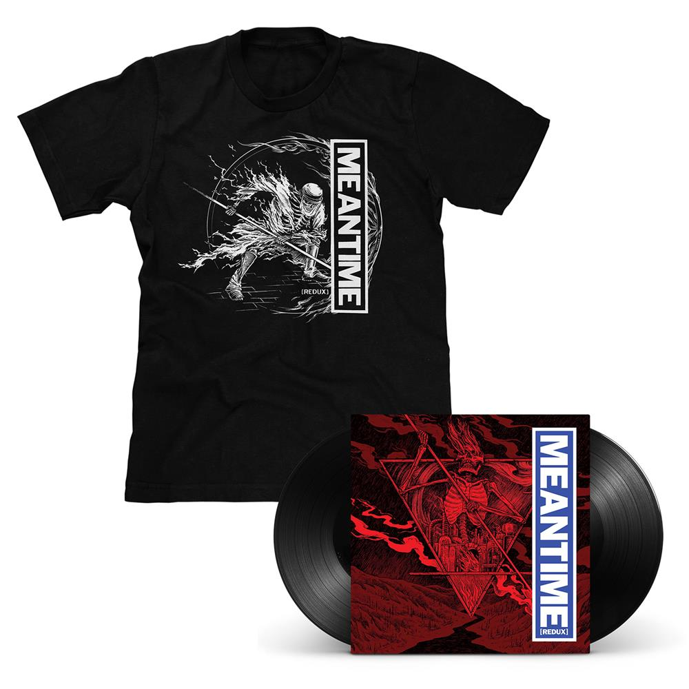 Meantime [REDUX] Black LP & T-Shirt - Various Artists