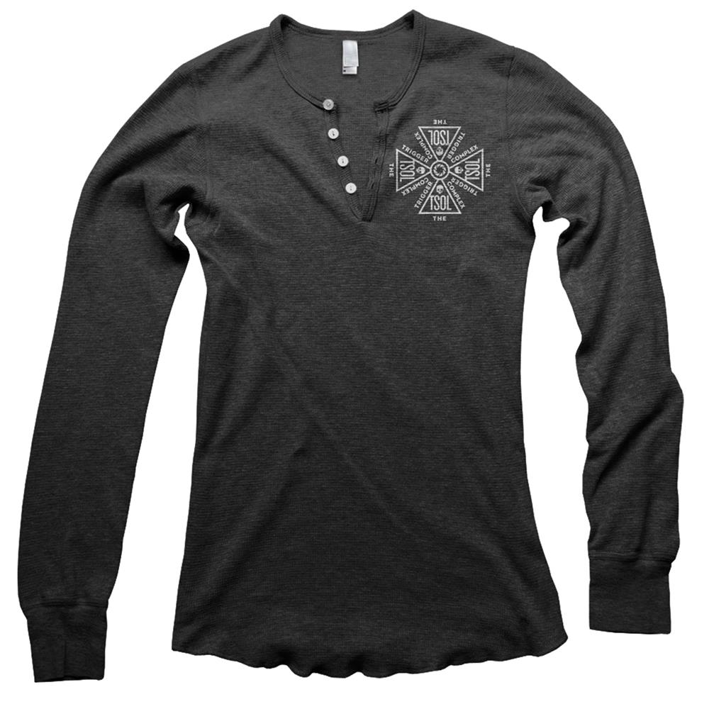 Logo Dark Heather Grey Henley