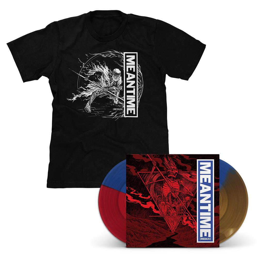 Meantime [REDUX] Tri-Color LP & T-Shirt - Various Artists