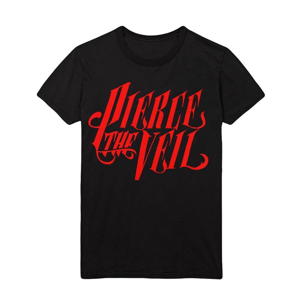 Red Logo Black T-Shirt
