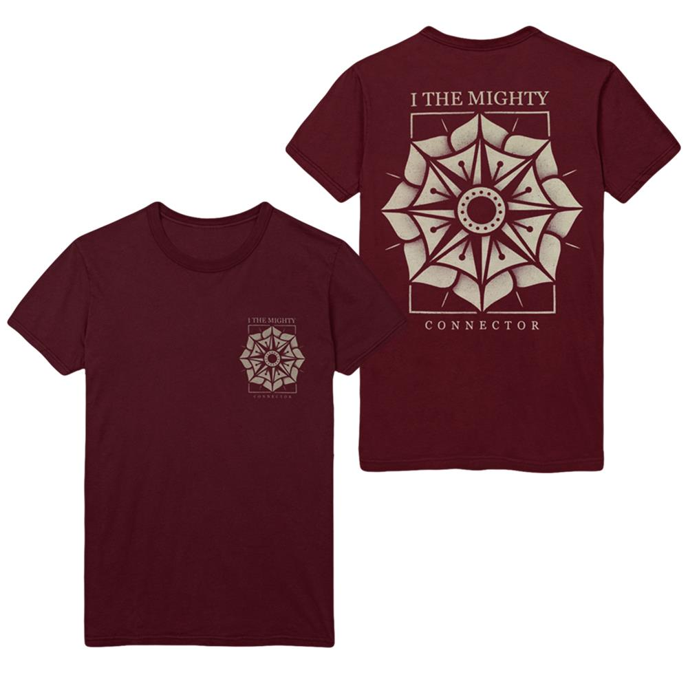 Floral Compass Red Burgundy
