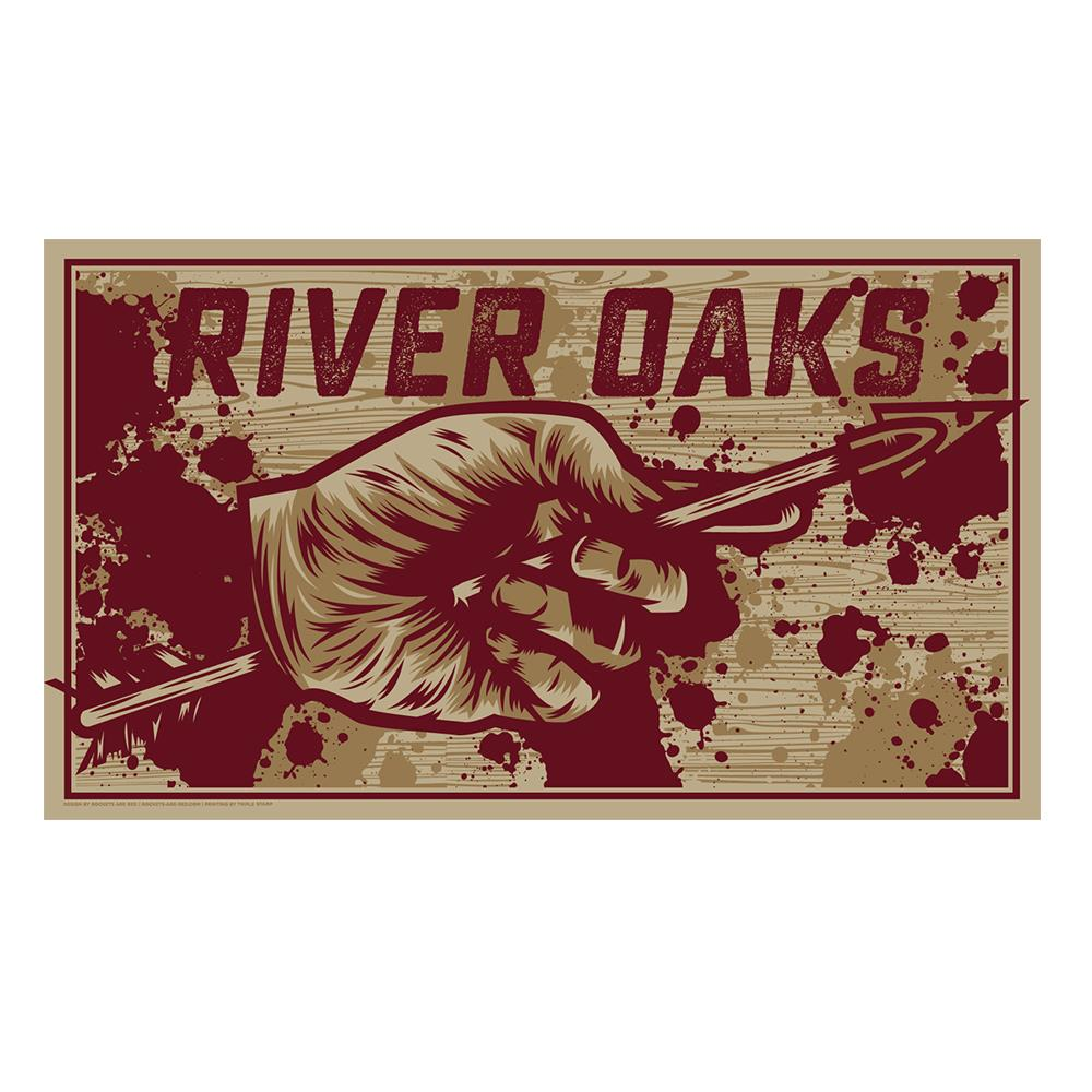 River Oaks Hand & Arrow  Screened Print