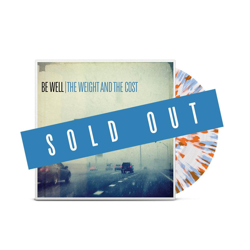 The Weight And The Cost Clear w/ Blue & Orange Splatter