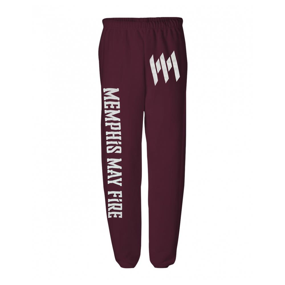 Logo Maroon Sweatpants