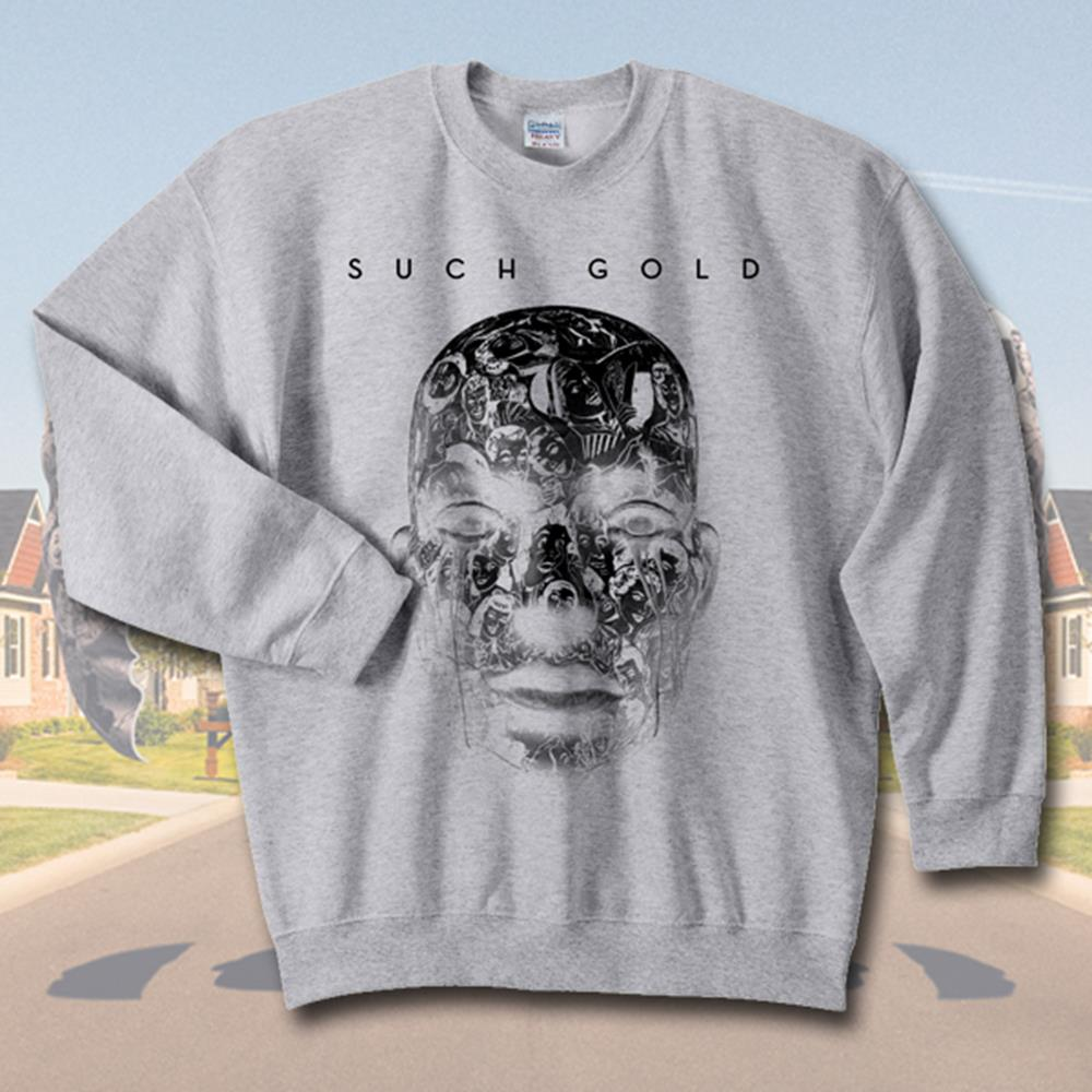 Face Heather Grey Crewneck Sweatshirt