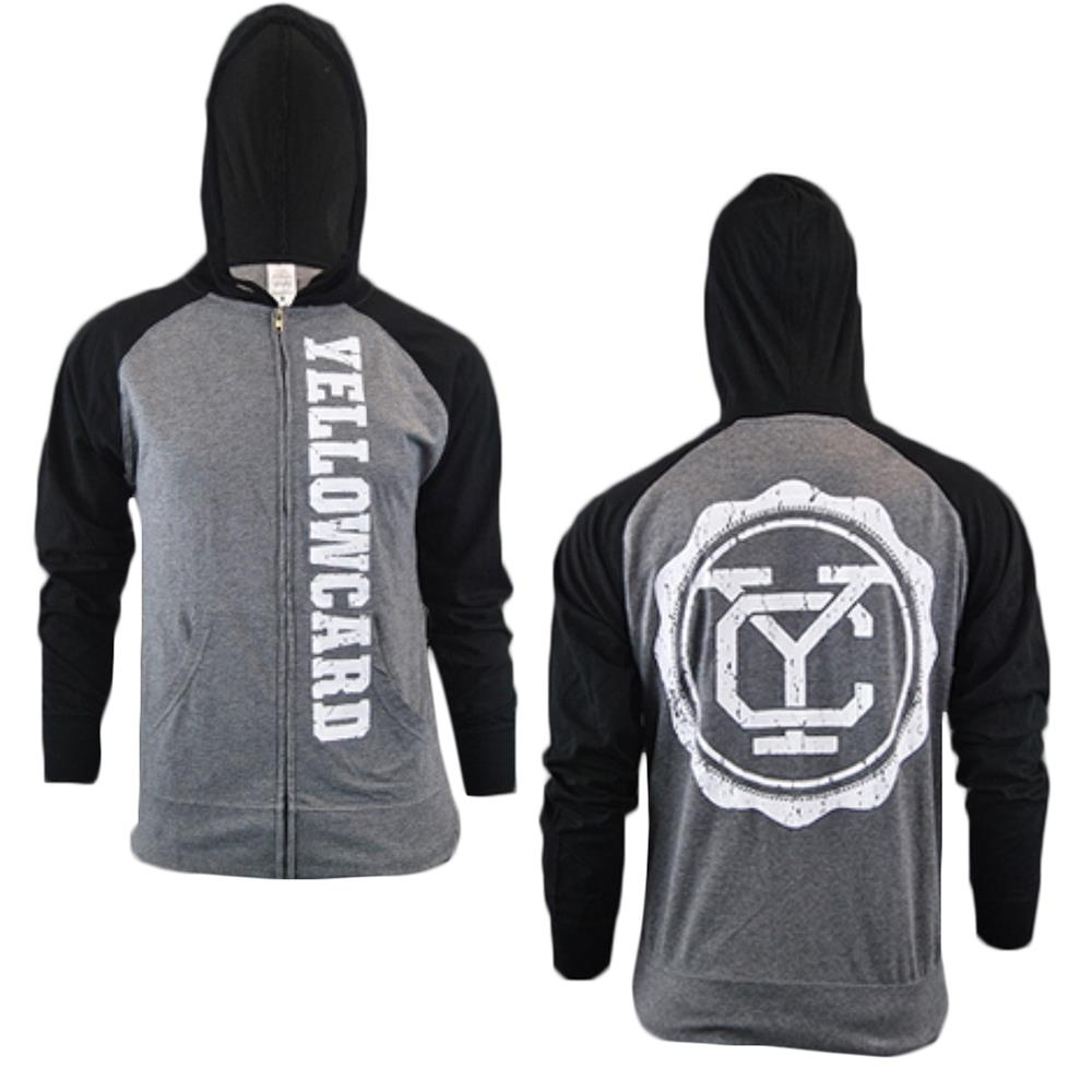 Yellowcard - Logo Black/Charcoal Two-Tone Zip-Up