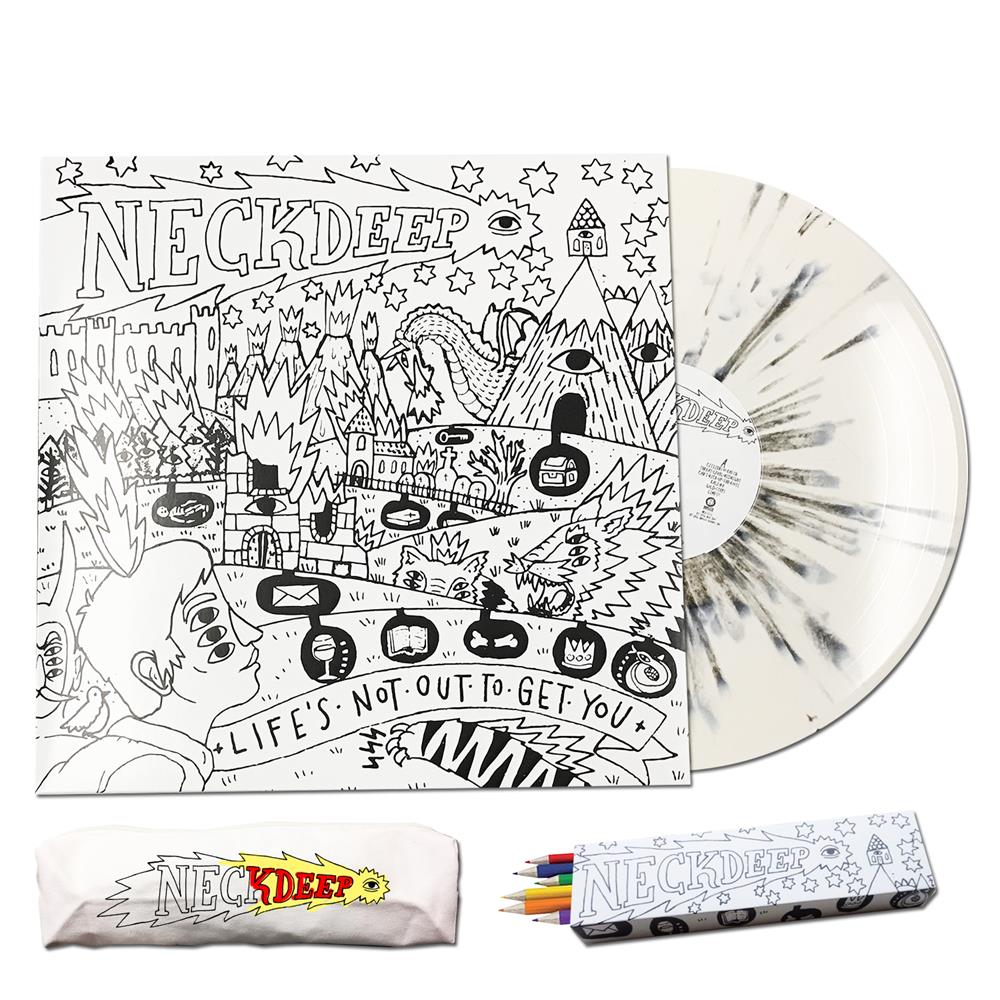 LNOTGY Color-in Cover White w/ Black Splatter