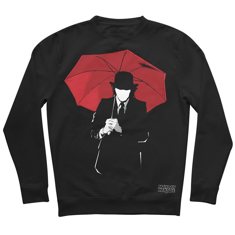 Umbrella Man Black Crewneck