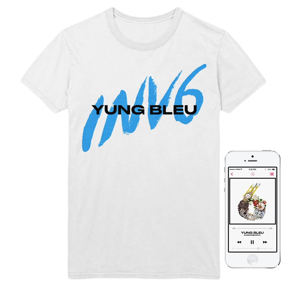 INV6 White T-Shirt + Album Digital Download