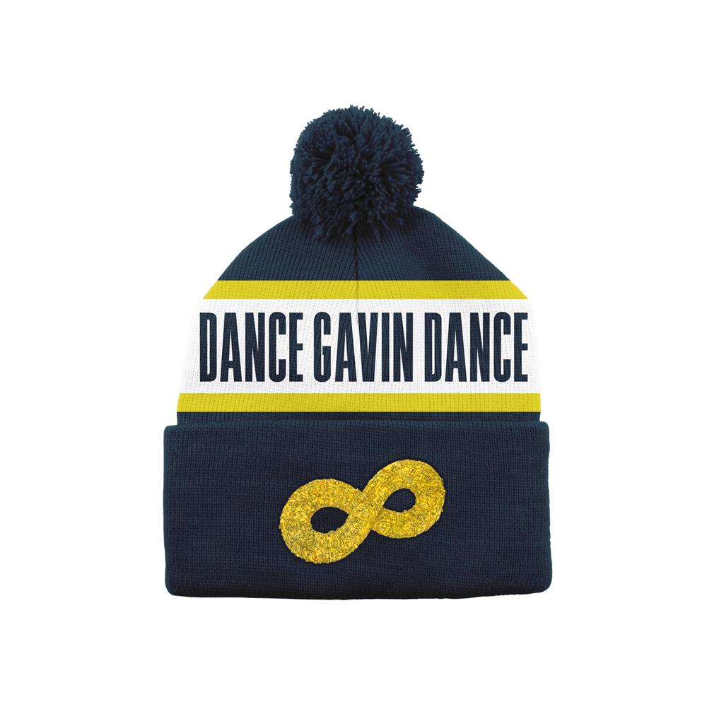Mothership Navy/Yellow Pom Beanie Hat