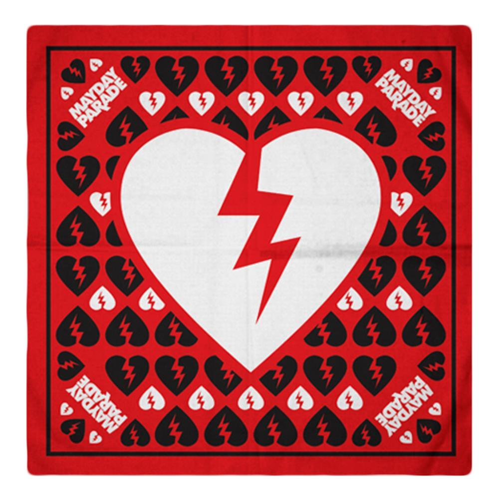 Broken Heart Red Bandana Fear Mayday Parade