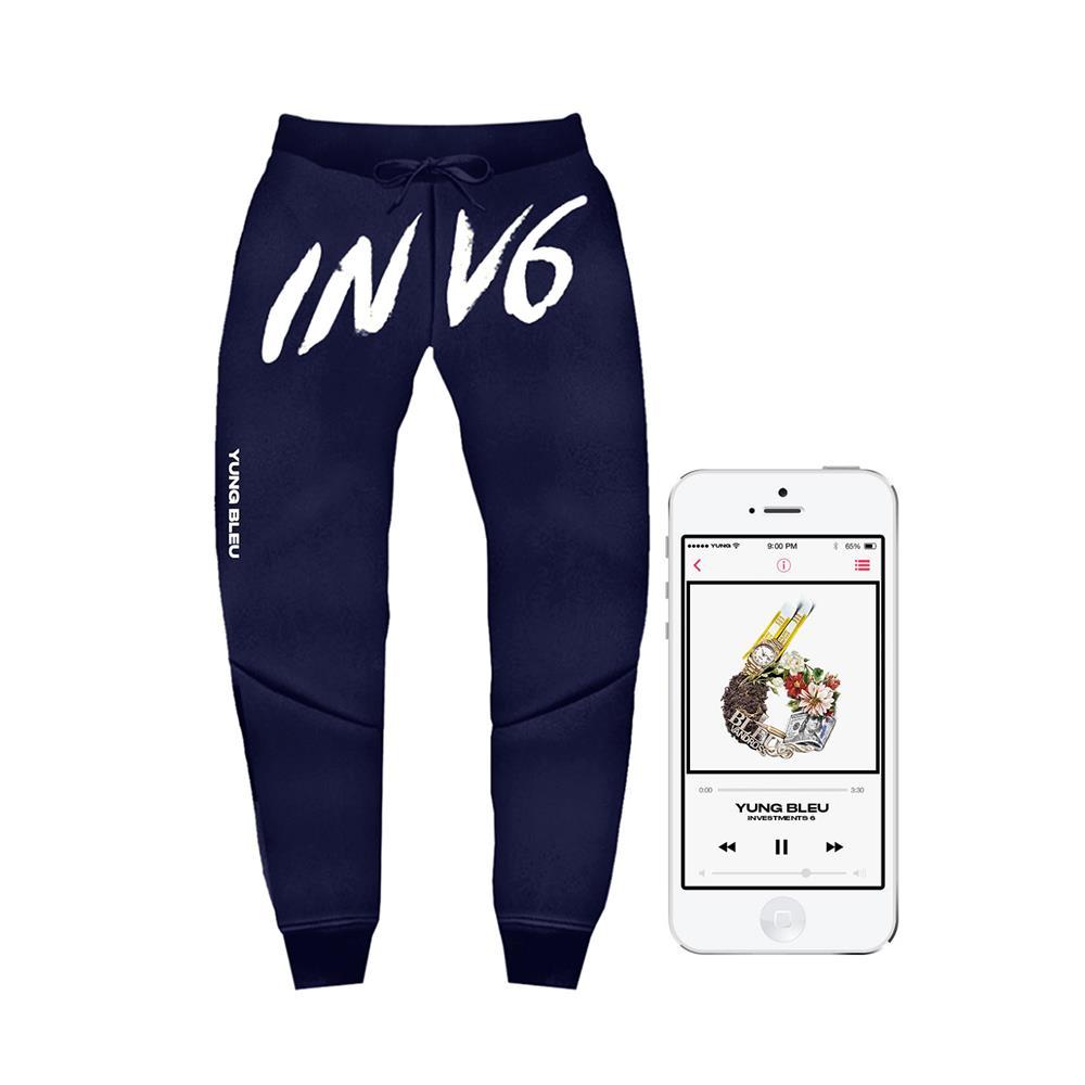 INV6 Navy Jogger Pants + Album Digital Download