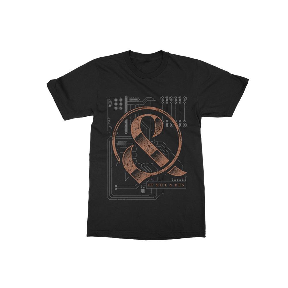 Circuit Board Black T-Shirt