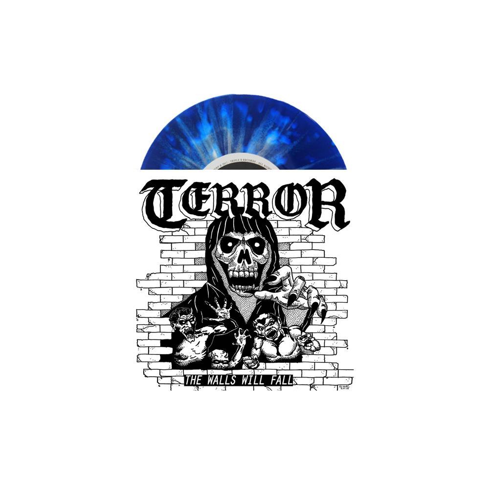 The Walls Will Fall Blue W/ White Splatter Vinyl 7