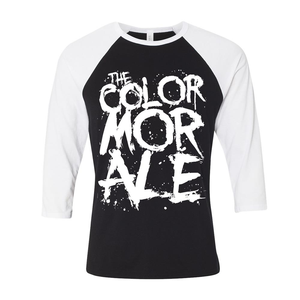 Murder Logo White/Black Baseball Shirt