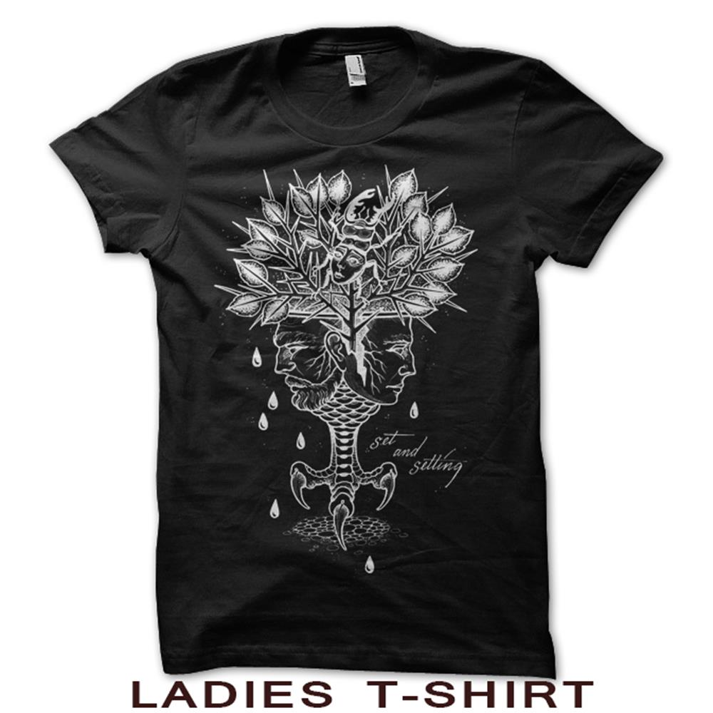 Aging Reflection Ladies Black T-Shirt
