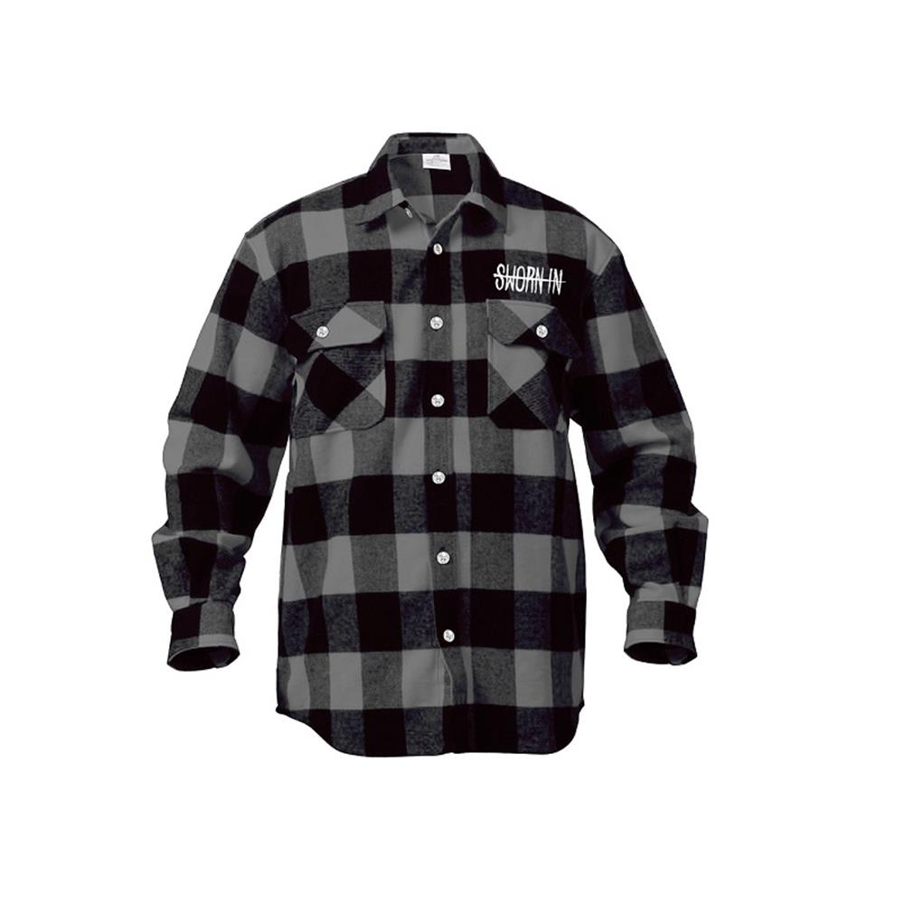 Flower Grey/Black Flannel
