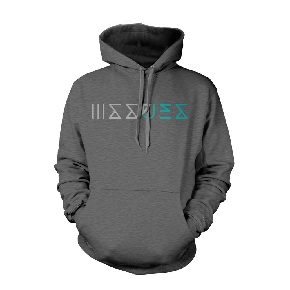 Logo Dark Heather Hooded Sweatshirt