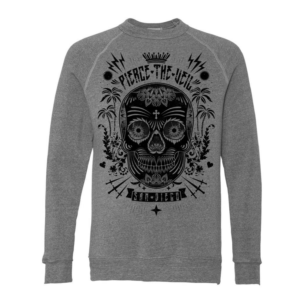 Sugar Skull Heather Grey Crewneck