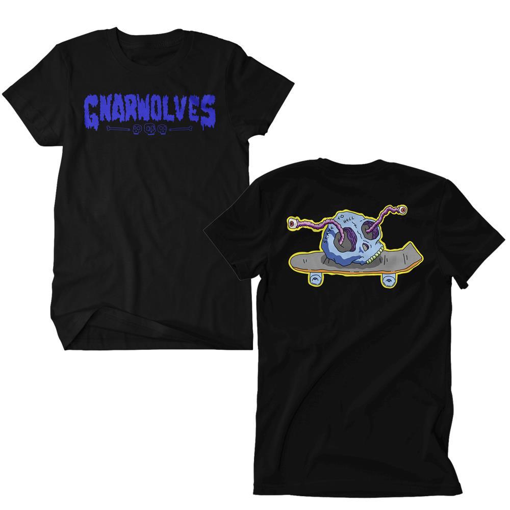 Skull Skate Black T-Shirt