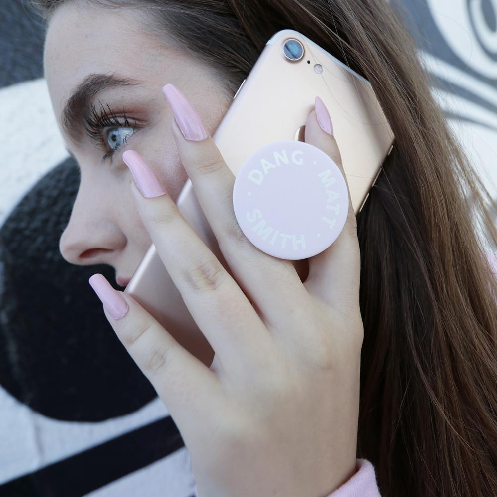 Logo Light Pink Popsocket