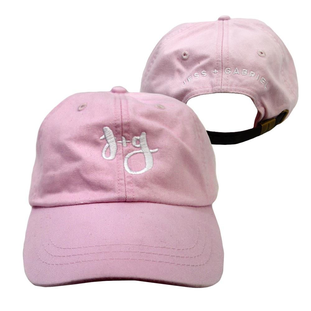 Jess And Gabriel Logo Pink Dad Hat