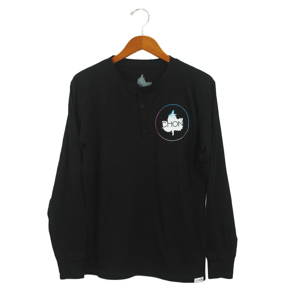 Woohoo Black Long Sleeve Henley