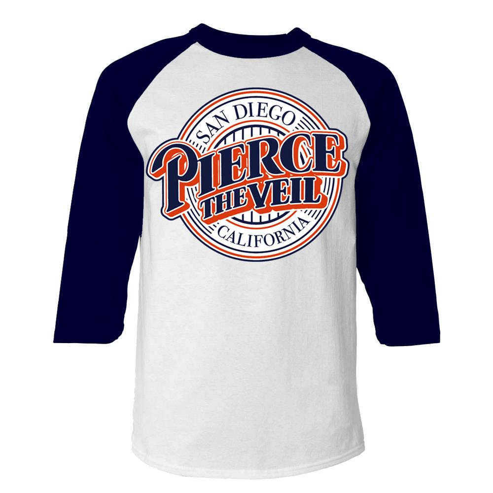Baseball Logo White/Navy