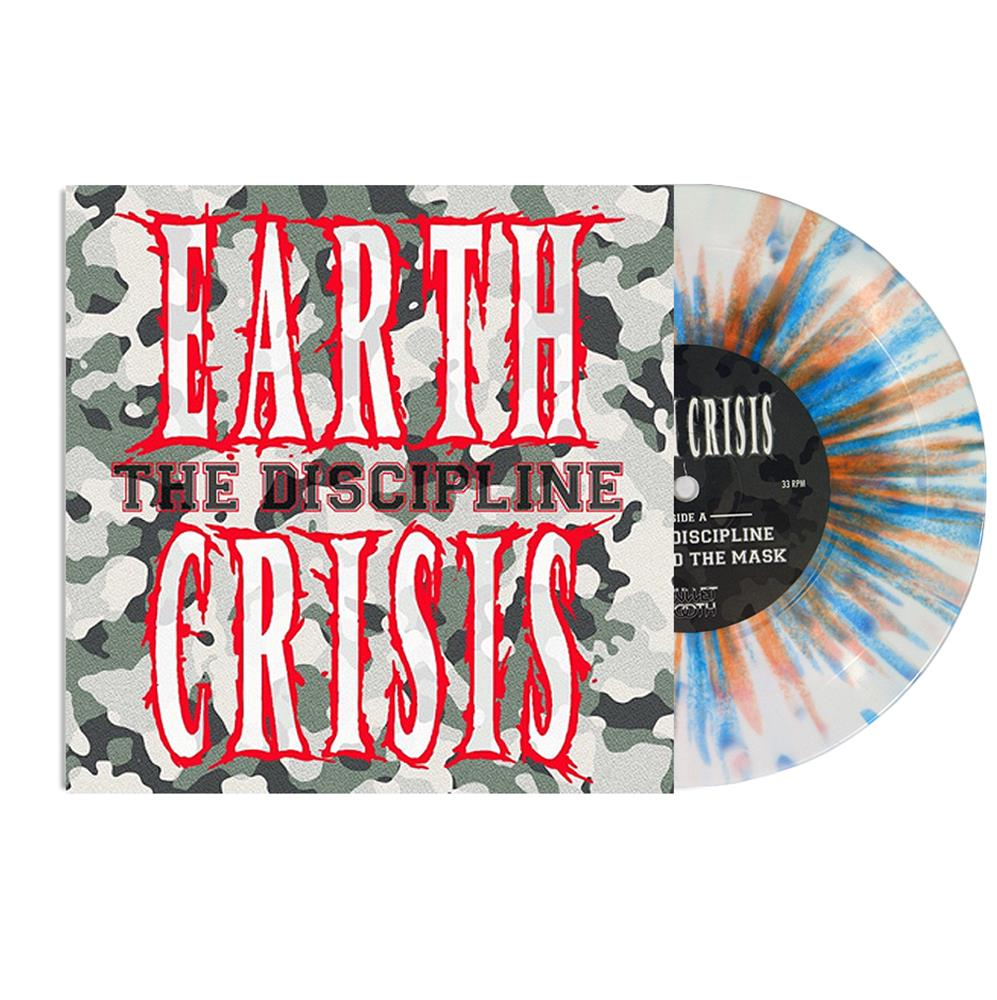 The Discipline White (Opaque) W/Orange & Blue Splatter 7