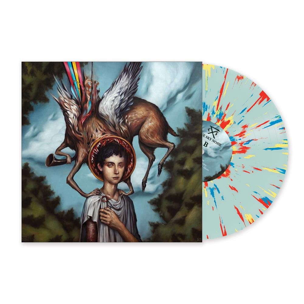 *SOLD OUT* Blue Sky Noise Remastered  Clear Blue W/ Blue,Yellow & Red Splatter