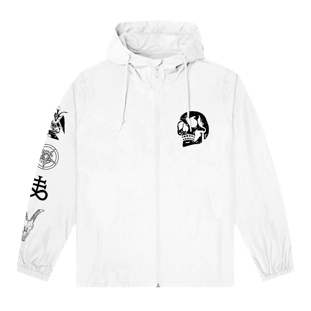 Occult White Zip Up