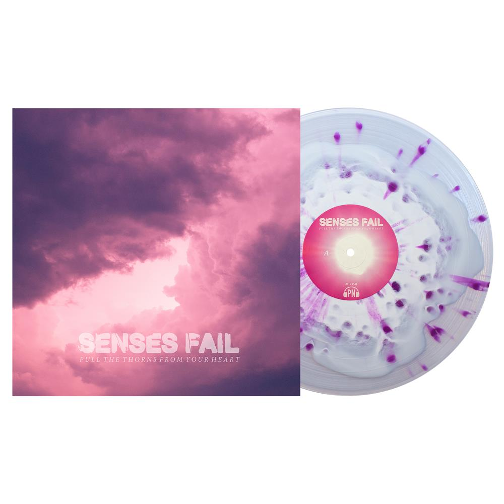Pull The Thorns From Your Heart White In Clear W/ Heavy Purple Splatter