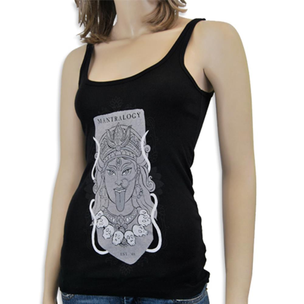 Mantralogy Durga Black Baby Rib Tank Top