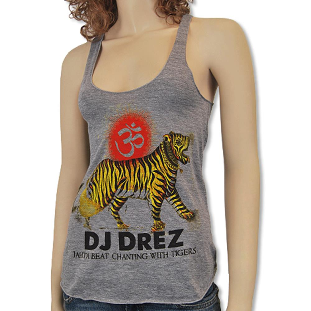 Mantralogy DJ Drez Athletic Grey Racer Tank Top
