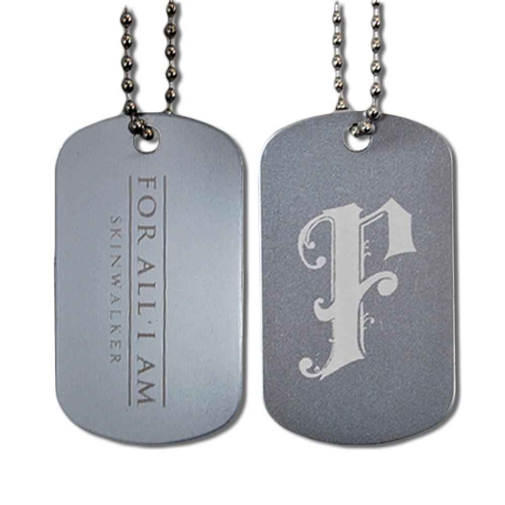 F Logo Silver Dog Tag