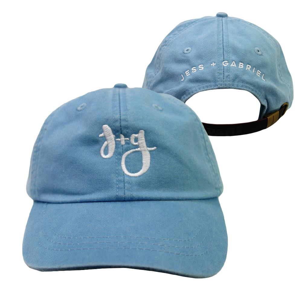Jess And Gabriel Logo Baby Blue Dad Hat