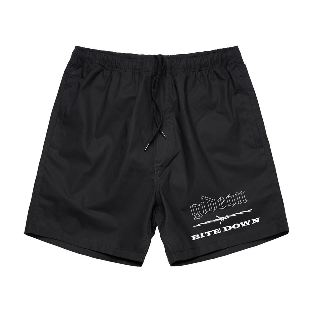 Bite Down Black Mosh Shorts