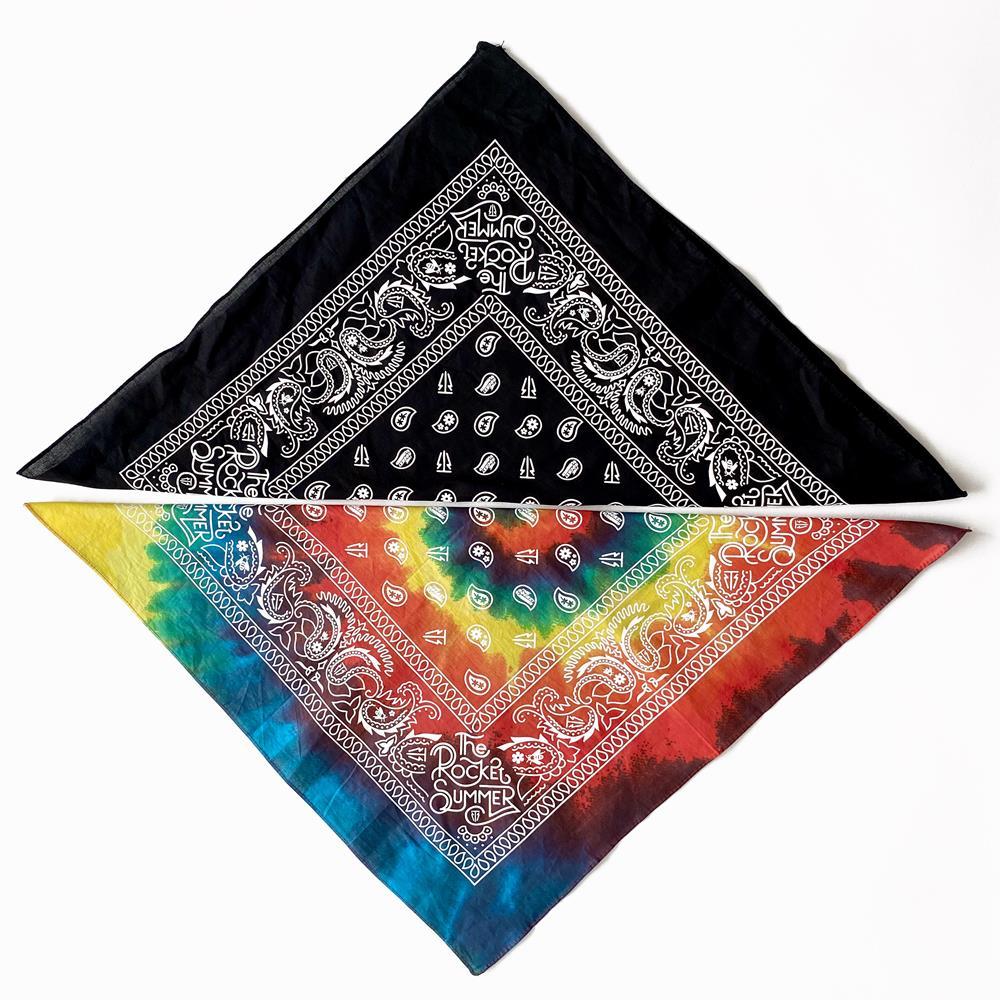 Tie Dye and Black Bandana Set (2)