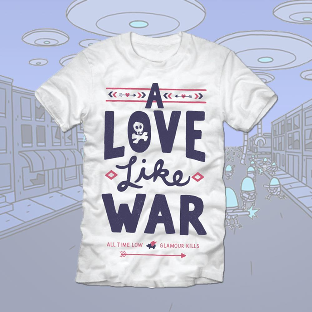 A Love Like War White T-Shirt