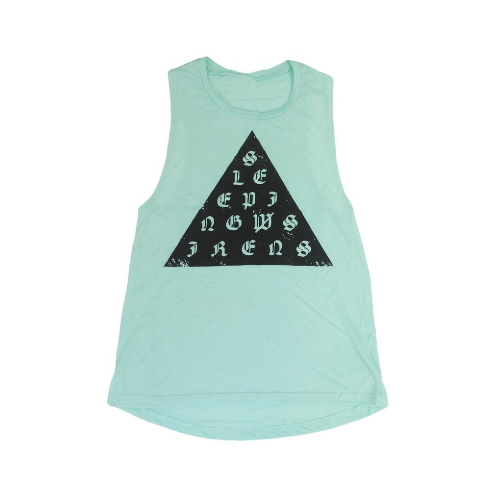 Triangle Logo Mint Women's Muscle Tank