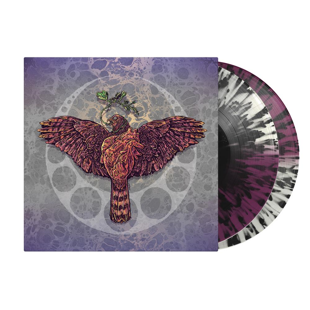 Gravebloom Half Clear/Half Grimace With Black Splatter Vinyl 2Xlp